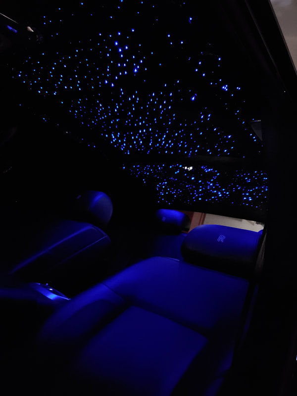 Rolls Royce Ghost with Starlight Headliner and Starlight HQ Sunroof Panels